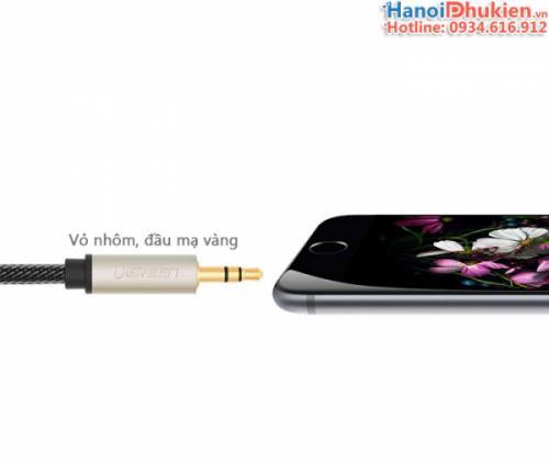Cáp âm thanh 3.5mm sang 3.5mm mạ vàng 24K -1M Ugreen 10602