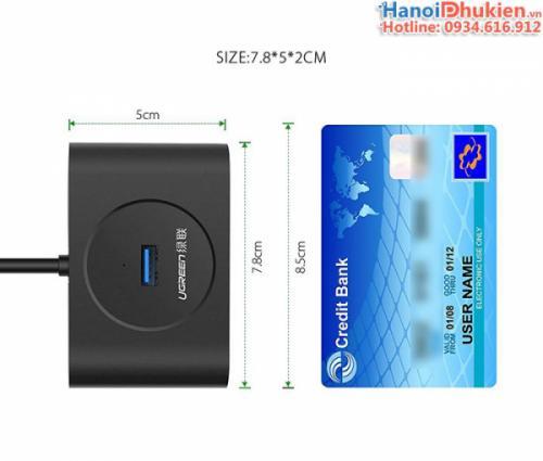 Bộ chia USB 3.0 4 cổng Ugreen 20290 hỗ trợ nguồn ngoài