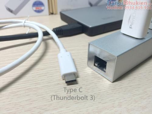 Bộ chia USB 3.0 3 Port + LAN Gigabit Orico ASH3L-U3 chính hãng