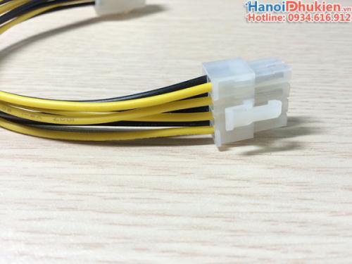 Cáp chuyển nguồn 6Pin sang 8Pin PCI-E dài 20cm