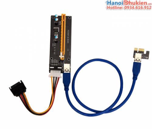 Card Riser chuyển đổi PCI-E 1X sang 16X USB 3.0