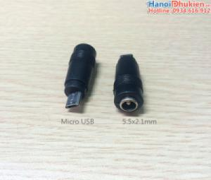 Đầu giắc chuyển nguồn chân tròn sang Micro USB
