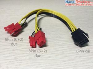 Cáp chia nguồn VGA 6pin ra 2x8Pin (6+2) cấp nguồn cho card VGA