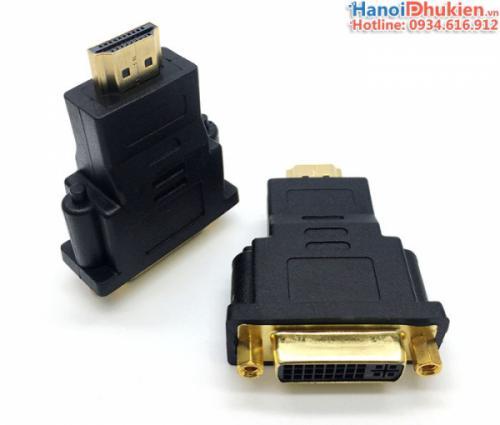 Đầu chuyển DVI 24+5 Female sang HDMI Male