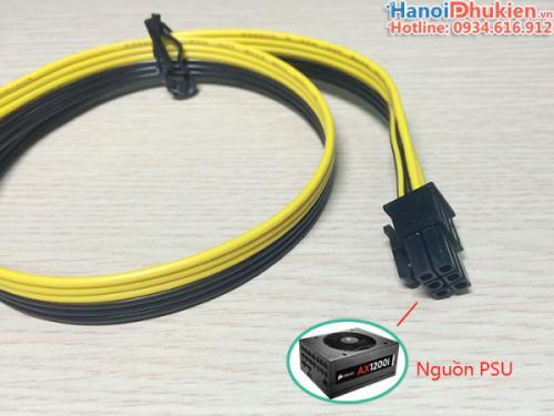Cáp nguồn card VGA 6Pin đực sang 6Pin đực 50cm