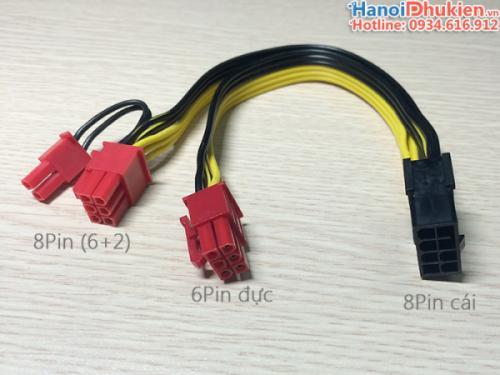 Cáp chia nguồn Card VGA 8Pin ra 6Pin, 8Pin (6+2)