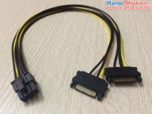 Cáp nguồn 8pin cho Card màn hình VGA (sata sang 8pin) dài 40cm