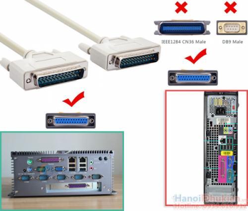 Cáp COM DB25 Male to DB25 Male nối thẳng 1.5M đầu đúc sẵn