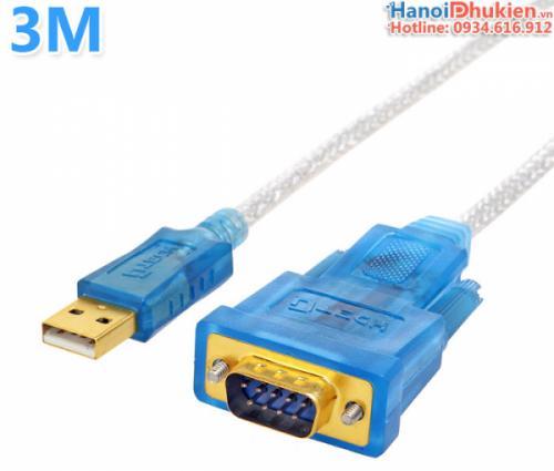 Cáp USB sang RS232 dài 3M (USB sang COM) chip FTDI Dtech DT-5031