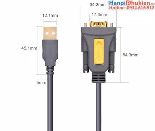 Cáp USB sang RS232 (USB sang COM) 3M chip PL2303 Ugreen 20223