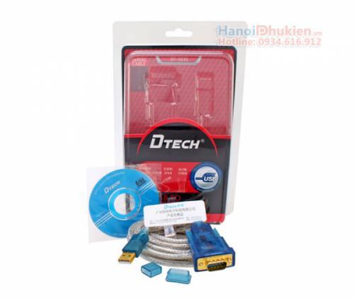 Cáp USB sang RS232 dài 5M (USB sang COM) chip FTDI Dtech DT-5051