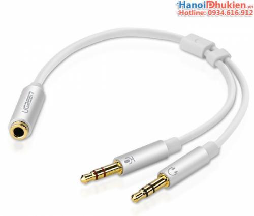 Cáp gộp 2 cổng Micro và tai nghe ra 1 cổng 3.5mm cho tai nghe Ugreen 10790
