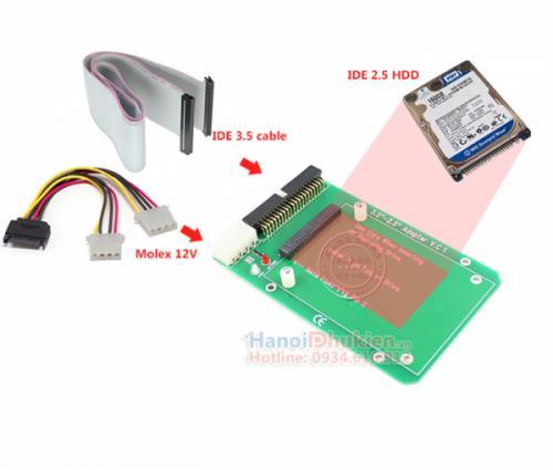 Card chuyển đổi IDE 2.5 sang IDE 3.5 hãng Hexin (IDE 44pin to 40pin)