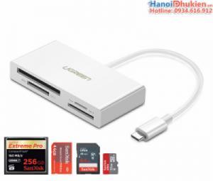 Đầu đọc thẻ TF/SD/CF/MS đa năng USB Type C 3.1 Ugreen 40444 chính hãng