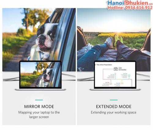 Cáp kết nối Macbook ra máy chiếu, Tivi (Type C sang HDMI) 1.5M Ugreen 30841