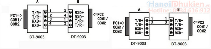 Đầu chuyển đổi RS232 sang RS422, RS485 chính hãng Dtech DT-9003