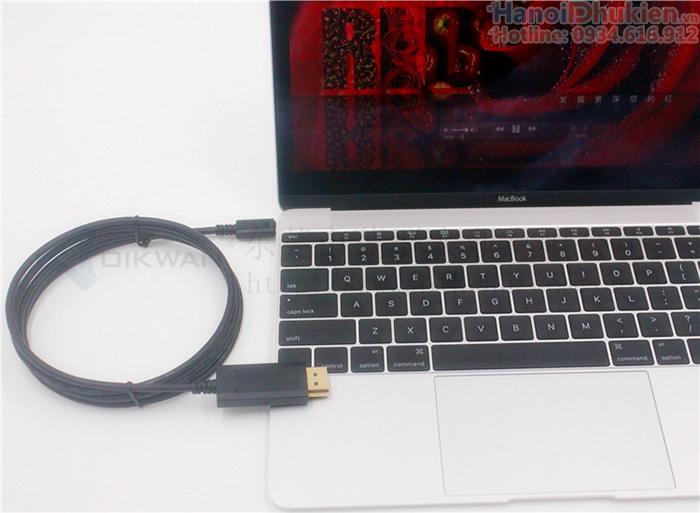 Cáp Thunderbolt 3 (Type C) sang Displayport dài 1.8M hỗ trợ 4K@60hz