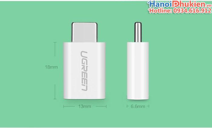 Đầu chuyển đổi USB Type C sang Micro USB Ugreen 30154