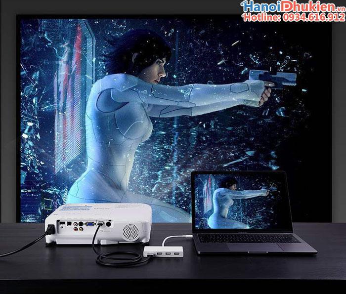 Cáp chuyển đổi Thunderbolt 3 sang HDMI, 3 cổng USB 3.1 cho Macbook Ugreen 40374
