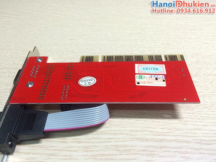 Card PCI to 2 COM RS232 Unitek Y-7503