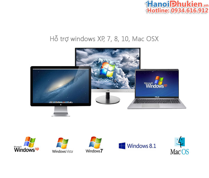 Cáp USB 3.0 to HDMI Unitek Y-3702. Hỗ trợ độ phân giải 2K