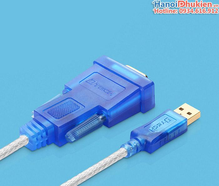 Cáp chuyển USB sang RS232 cái (USB sang COM) chip PL2303 Dtech DT-5002B