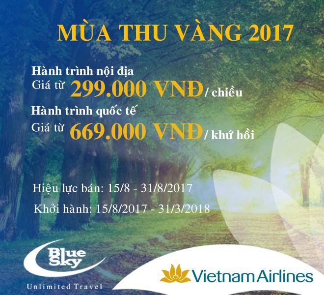 Mùa Thu Vàng Cùng Vietnam Airlines